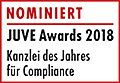 JuveAwards2018 Logo Nominierte Compliance