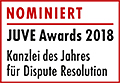 JuveAwards2018 Logo Nominierte Dispute Resolution