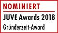 JuveAwards2018 Logo Nominierte Gründerzeit