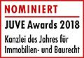 JuveAwards2018 Logo Nominierte Immobilien- und Baurecht