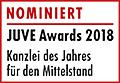 JuveAwards2018 Logo Nominierte Mittelstand
