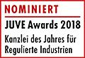JuveAwards2018 Logo Nominierte Regulierte Industrien