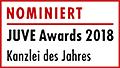 JuveAwards2018 Logo Nominierte Kanzlei des Jahres