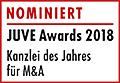 JuveAwards2018 Logo Nominierte M&A