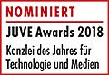 JuveAwards2018 Logo Nominierte Technologie und Medien