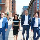 Jörg von Appen, Patricia Cronemeyer, Andreas Jens, André Soldner (v. links)
