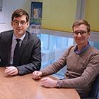 Die Start-Up-Gründer Maximilian Block und Jacob Saß