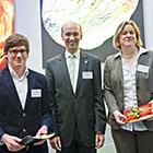 Patrick Weigelt, Unibund-Vorstand Arnulf Quadt, Katharina Apel