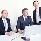 Franz Schmitz, Oliver Rossbach und Stephan Göthel von Pier11.