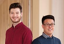 Setzen sich für Flüchtlinge ein: Dominik-Alexander Keller (li.) und Hao-Hao Wu von der RLCM.