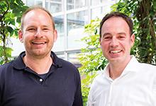 Dennis Kaben (li.) und Arnd Haller von Google Germany